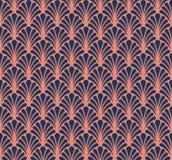 Японская орнаментальная предпосылка вектора Картина стиля Арт Деко флористическая безшовная Геометрическая декоративная текстура Стоковая Фотография RF