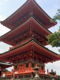 Японская пагода 3-Tier Стоковая Фотография RF