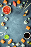 Японская предпосылка суш Стоковая Фотография RF