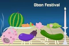 Японская предпосылка фестиваля Bon лета (Obon) Стоковые Изображения