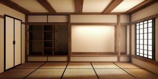 Японская пустая циновка tatami комнаты конструируя самое красивое r бесплатная иллюстрация