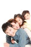 Японская семья из четырех человек Стоковая Фотография