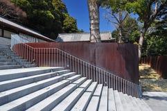 Японская современная архитектура, новый дизайн виска в Kotohira Стоковая Фотография RF