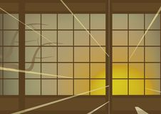 японская стена иллюстрация вектора