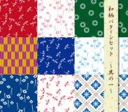 Японская традиционная цифровая бумага установила 01 Стоковая Фотография