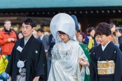 Японская традиционная свадебная церемония Стоковые Фотографии RF
