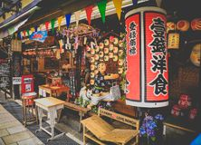 Японская улица, улица interestingand элегантная стоковые фото