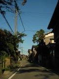 Японская улица сельской местности с зданиями Стоковая Фотография