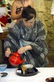 Японская церемония чая Стоковая Фотография