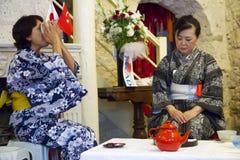 Японская церемония чая Стоковая Фотография RF