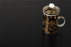 Японская чашка чая тройника с стрейнером стоковые фото