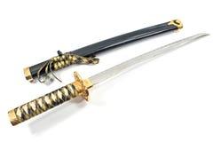Японская шпага katana самураев Стоковая Фотография
