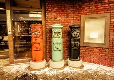 Японские азиатские коробки почты столба Стоковое Изображение