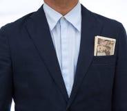Японские банкнота и бизнесмен Стоковая Фотография