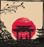 Японские бойцы самураев Стоковые Фотографии RF