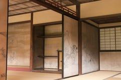 Японские внутренние стены дома украшенные Tanyu Kano Стоковые Изображения RF