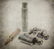 Японские воинские бинокли с пулями Стоковое Изображение
