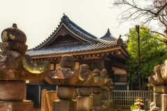 Японские детали кладбища Стоковые Фото