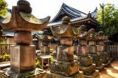 Японские детали кладбища Стоковое Изображение