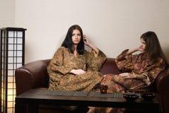 японские женщины спы Стоковые Фотографии RF