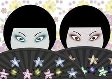 японские женщины Стоковое Изображение