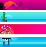 Японские знамена Стоковые Фото