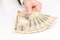 японские иены Стоковое фото RF
