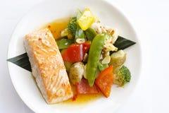 Японские рыбы красного цвета кухни Стоковое Изображение