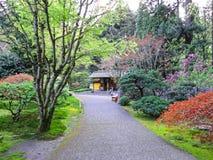 Японские сады Портленд Орегон Стоковые Изображения