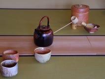 Японские сосуды чая Стоковые Фотографии RF