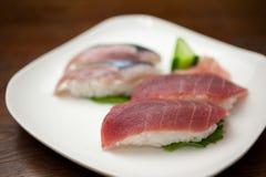 японские суши плиты Стоковая Фотография