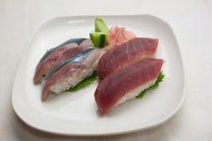 японские суши плиты Стоковое фото RF