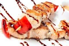 японские kebabs salmon Стоковое фото RF