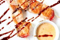 японские kebabs salmon Стоковые Фото