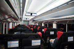 Японский автомобиль сверхскоростного пассажирского экспресса Стоковое Изображение
