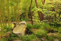 Японский бамбук кафе на открытом воздухе Стоковая Фотография