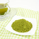 Японский вкусный порошок зеленого чая matcha Стоковая Фотография RF