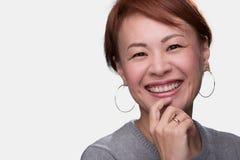 Японский выстрел в голову женщины стоковое изображение