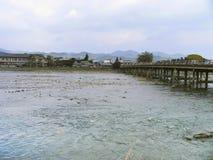 японский городок реки Стоковая Фотография