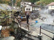 Японский горячий источник Стоковое Изображение