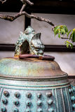 Японский замок Nijo колокола виска, Киото, Япония Стоковая Фотография RF