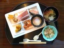 японский комплект еды Стоковое фото RF