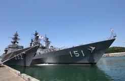 Японский корабль войны военно-морского флота силы самозащитой Стоковые Фотографии RF