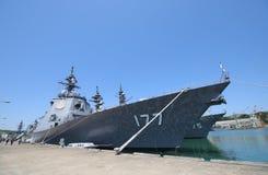 Японский корабль войны военно-морского флота силы самозащитой Стоковое Фото