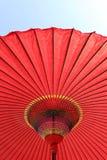 японский красный зонтик Стоковое Фото