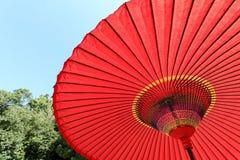 японский красный зонтик Стоковое фото RF