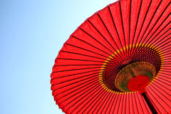 японский красный зонтик Стоковые Фото