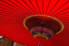 японский красный зонтик Стоковые Фотографии RF