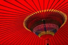 японский красный зонтик Стоковая Фотография