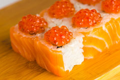 Японский макрос maki крена еды Стоковое Фото